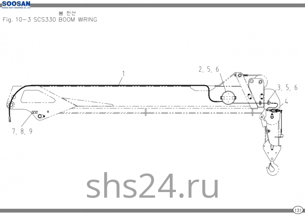 Электропроводка стрелы Soosan scs 333,334,335