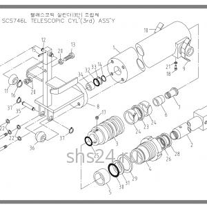3-ий Гидроцилиндр выдвижения Soosan SCS 746L