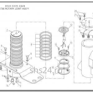 Гидрошарнир(коллектор) Soosan SCS 736STD