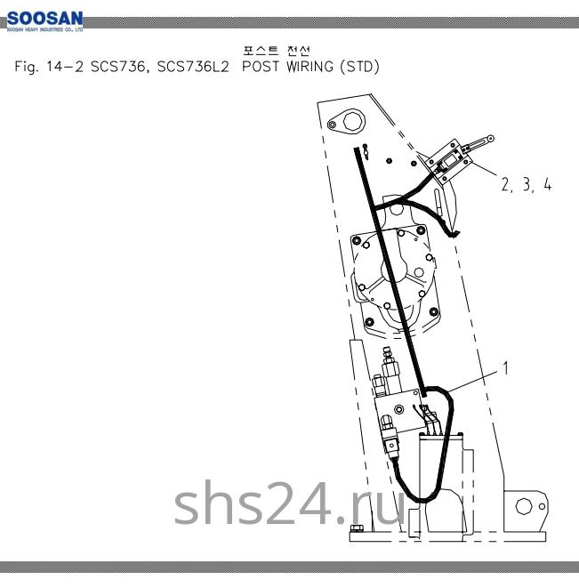 Электропроводка колонны(башни) Soosan SCS 736L2 STD