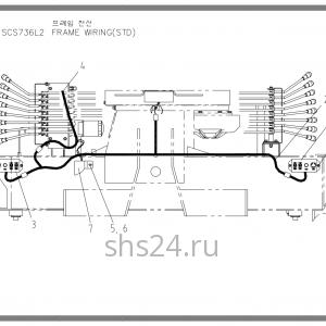 Электропроводка станины Soosan SCS 736 STD