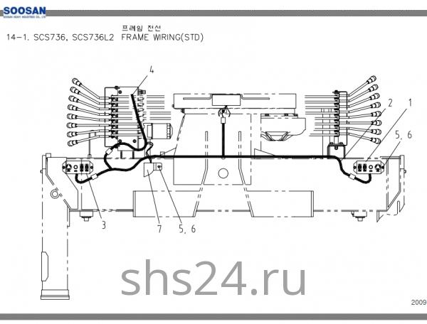 Электропроводка станины Soosan SCS 736L2 STD