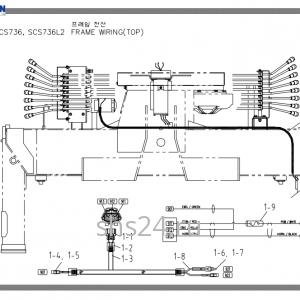 Электропроводка станины Soosan SCS 736L2 TOP