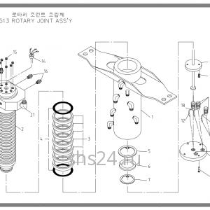 Коллектор поворота Soosan SCS 513
