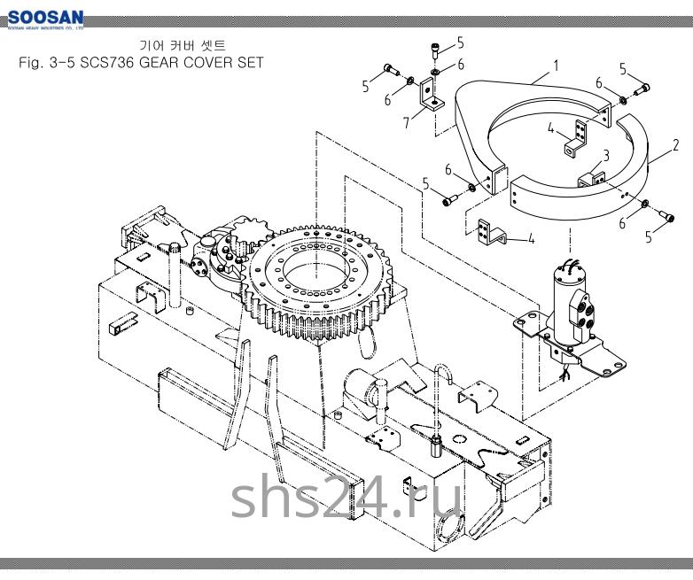 Корпус опорного подшипника Soosan SCS 736L2