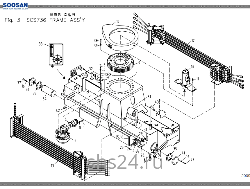 Опорно-поворотный подшипник (ОПУ) Soosan SCS 736L2