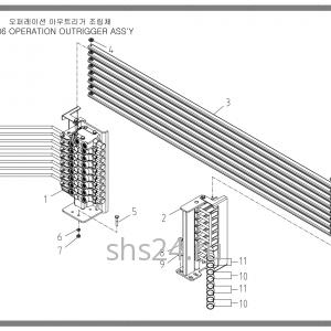 Рычаги управления 8-ми секц. гидрораспределителя Soosan SCS 736