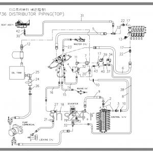 Схема подключения гидравлики Soosan SCS 736 TOP