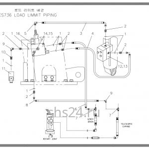 Схема подключения гидроклапанов Soosan SCS 736