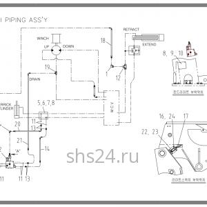 Схема подключения электрики Soosan SCS 736