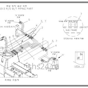 Схема подключения задних аутригеров Soosan scs 513