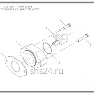 Тормоз редуктора поворота Soosan SCS 513