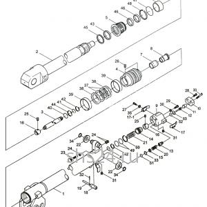 2-ой гидроцилиндр выдвижения стрелы Kanglim KS 5206
