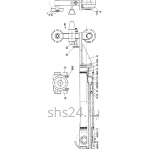3-ий гидроцилиндр выдвижения стрелы Kanglim KS 735