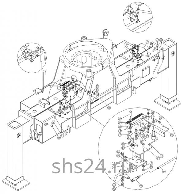 Блок рычагов цилинда газа Dong Yang SS 1406