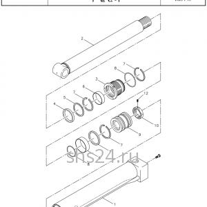 Цилиндр опускания аутриггера(опор) Kanglim KDC 5600