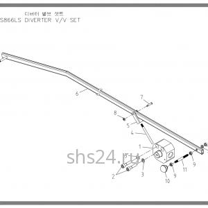 Дивертер(3-х ходовой кран) Soosan SCS 866, 867