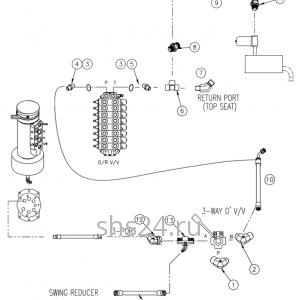 Гидравлическая схема преключения потока (верх и низ) Dong Yang SS 1406
