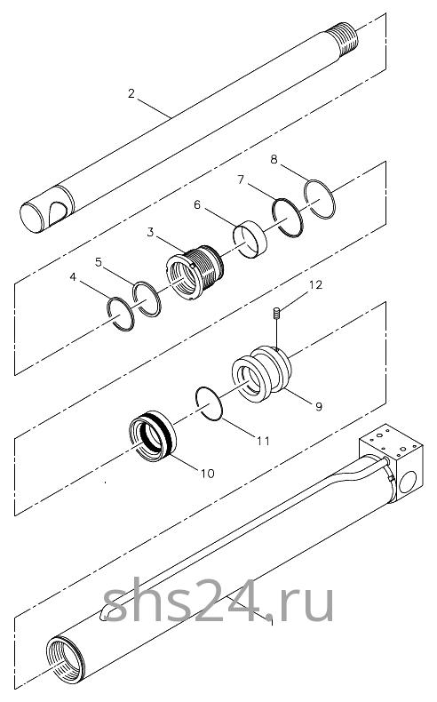 Гидроцилиндр опускания передней опоры Kanglim KS 5206