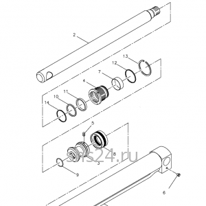 Гидроцилиндр опускания задней опоры Kanglim KS 3105