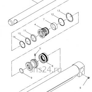 Гидроцилиндр опускания задней опоры Kanglim KS 5206