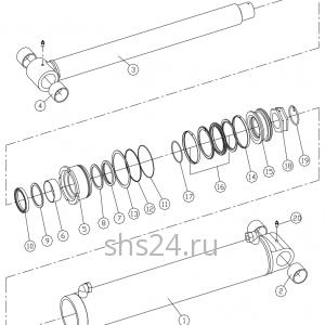 Гидроцилиндр подъема стрелы Dong Yang SS 1406