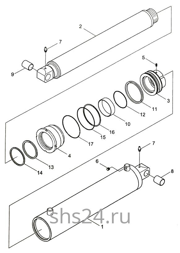 Гидроцилиндр подъема стрелы Kanglim KS 5206