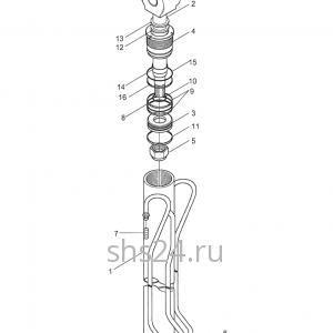 Гидроцилиндр выдвижения передней опоры Kanglim KS 2056