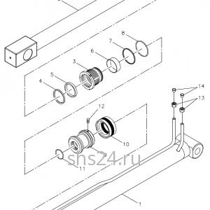 Гидроцилиндр выдвижения передней опоры Kanglim KS 5206