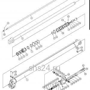Гидроцилиндр выдвижения стрелы 2-ой Dong Yang SS 1406