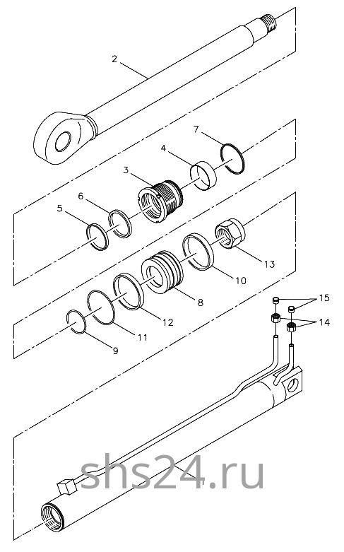 Гидроцилиндр выдвижения задней опоры Kanglim KS 5206
