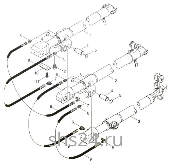 Гидроцилиндры телескопирования стрелы Kanglim KS 5206