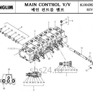 Гидрораспределитель управления краном манипулятором Kanglim KS 3105