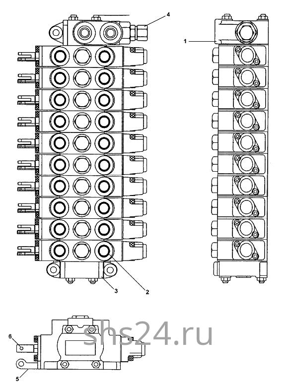 Гидрораспределитель управления опорами Kanglim KS 5206