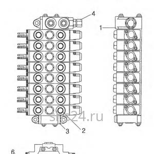 Распределитель управления краном манипулятором Kanglim KS 2056