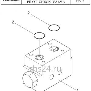 Гидрозамок (клапан) аутриггера Kanglim KS 2056
