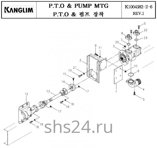 Коробка отбора мощности и гидронасос KS 3105