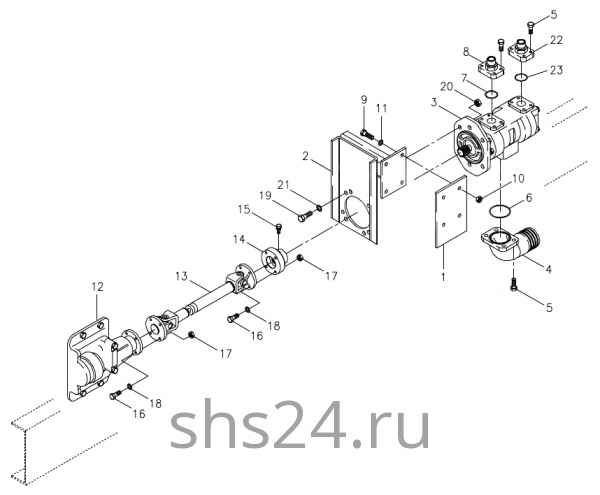 Коробка отбора мощности и гидронасос KS 5206