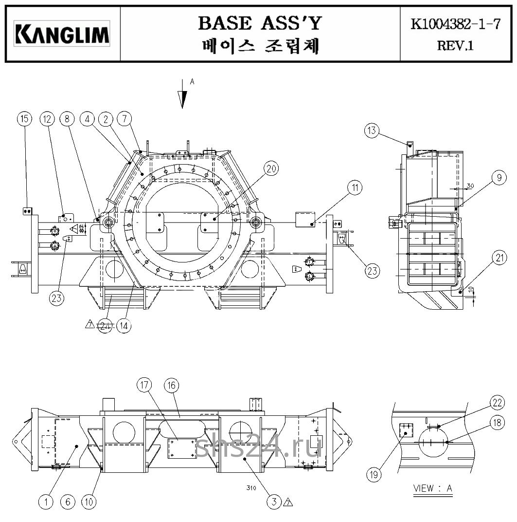 Опорно-поворотный подшипник (ОПУ) Kanglim KS 3105