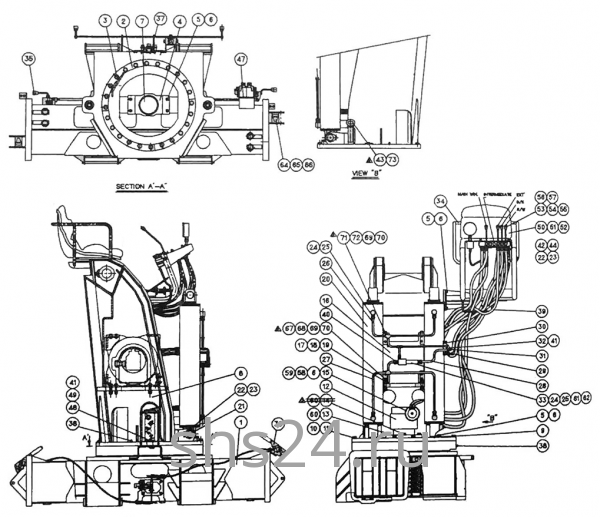 Опорно-поворотный подшипник (ОПУ) Kanglim KS 5206