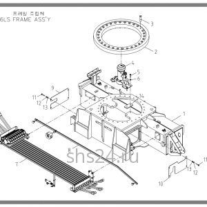 Опорно-поворотный подшипник (ОПУ) Soosan SCS 867
