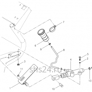 Педаль акселератора Kanglim KS 5206