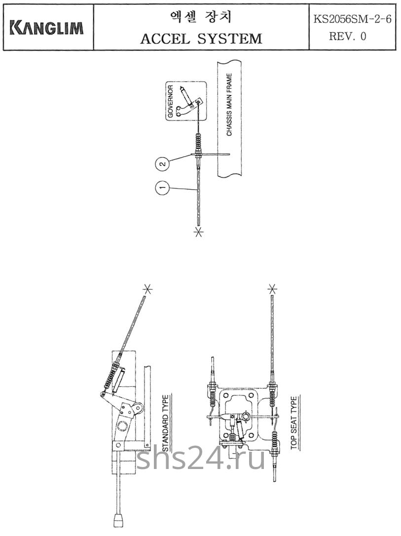 Педаль газа (акселератора) Kanglim KS 2056