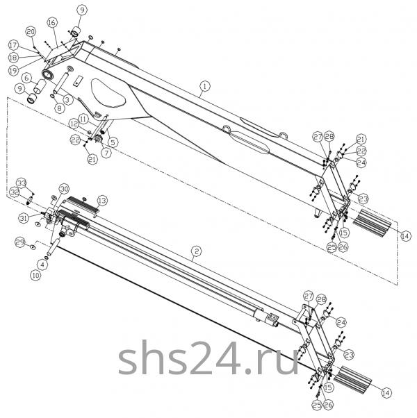 Первая и вторая секция стрелы Dong Yang SS 1406