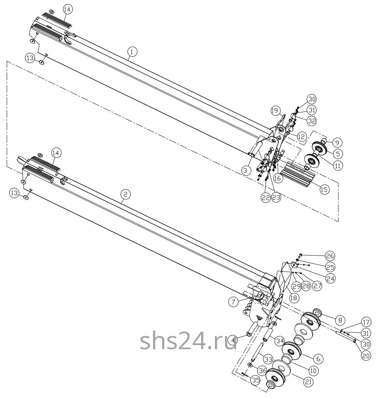 Пятая и шестая секция стрелы Dong Yang SS 1406