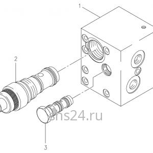 Предохранительный клапан (гидрозамок) выдвижения стрелы Kanglim KS 5206