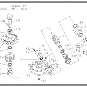 Редуктор поворота колонны Soosan SCS 867