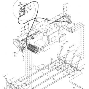 Рычаги управления аутриггерами Kanglim KS 2056
