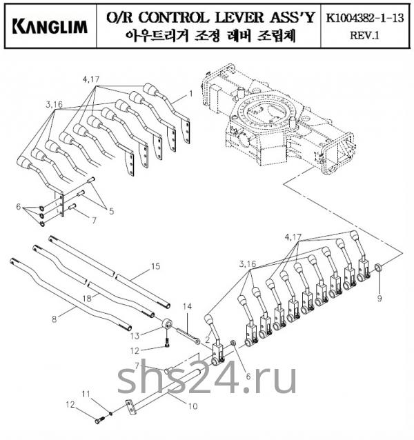 Рычаги управления опорами KS 3105