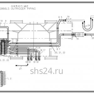 Схема подключения аутригеров Soosan SCS 866, 867